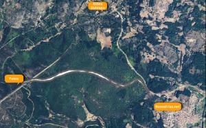 trayectoria de la carretera de navasfrias a foios